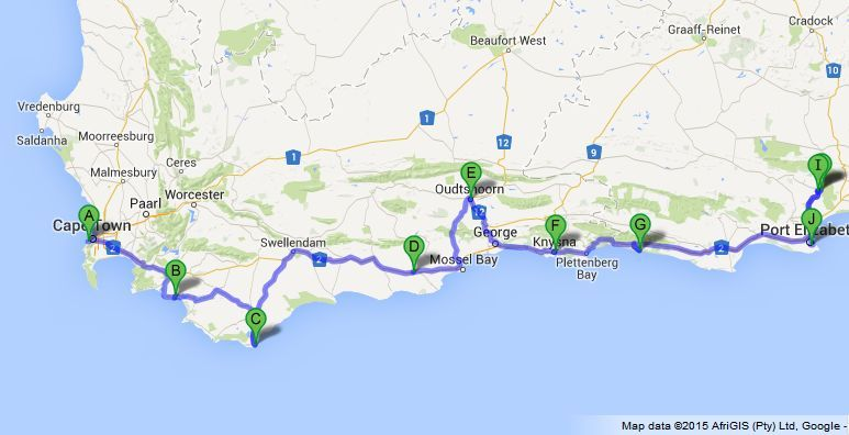 Cape town exclusive garden route safari - Drive from port elizabeth to cape town ...